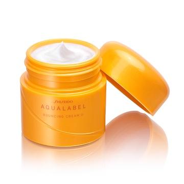 Shiseido Aqualabel Bouncing Cream màu vàng giúp làm căng, mịn, bật tông da