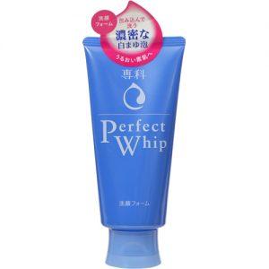 Sữa rửa mặt Shiseido Perfect Whip Senka hàng nội địa Nhật được xách tay. Phân biệt bằng cách tem có in chữ Nhật, chỉ mua tại Nhật mới có tem này.