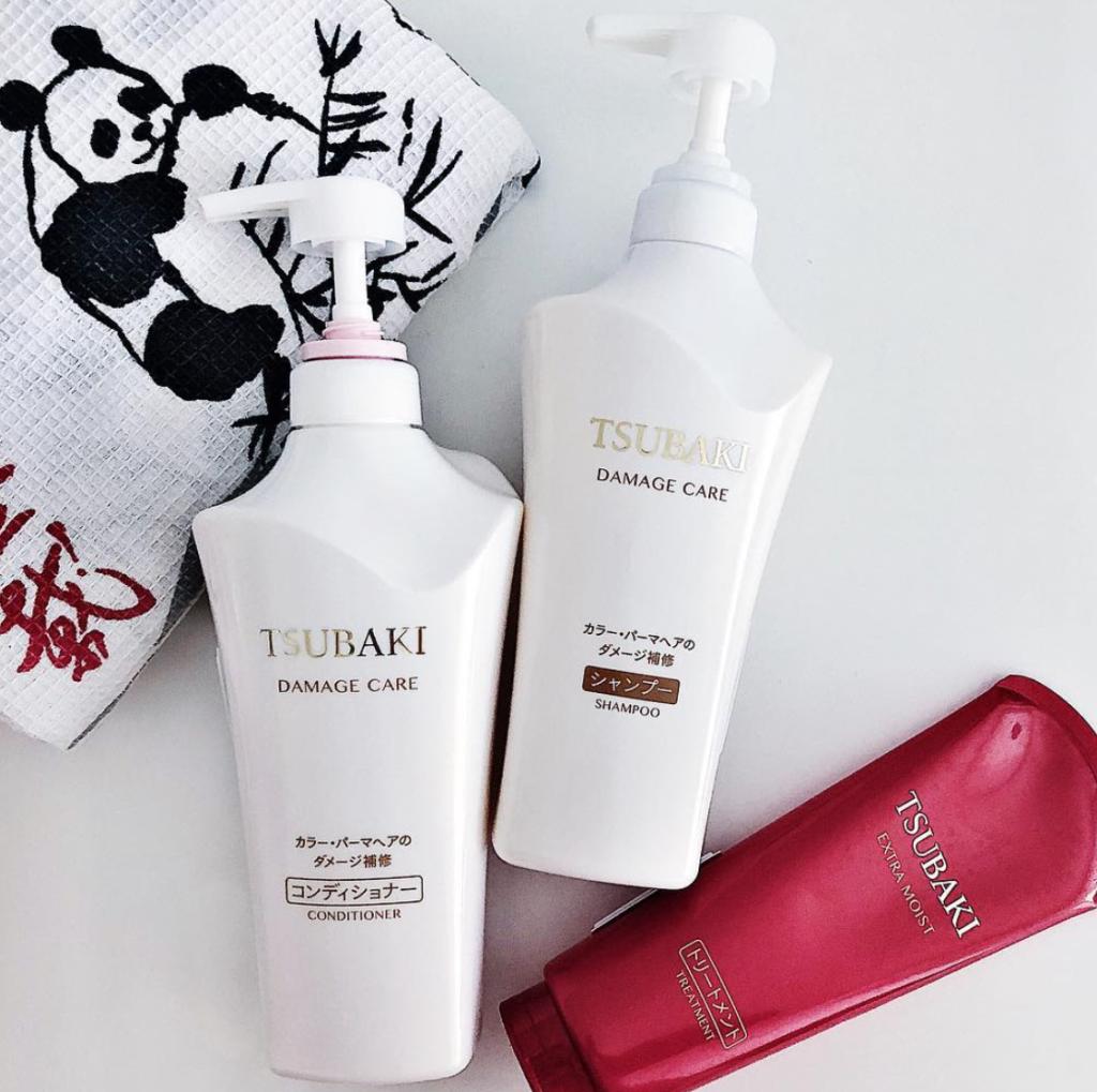 Shiseido Tsubaki Damage Care bộ 2 chai dầu gội & dầu xả hàng Nhật nội địa