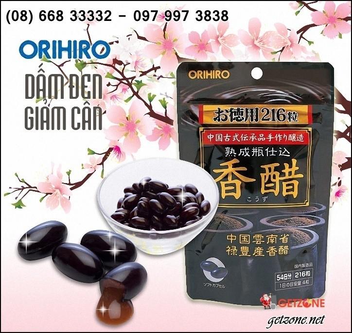 Giấm đen hột gạo lức giảm cân Orihiro
