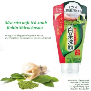 sữa rửa mặt trà xanh rohto shirochasou