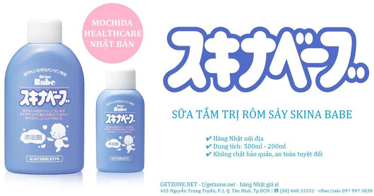 Sữa tắm trị rôm sảy Skina Babe của Nhật hàng xách tay