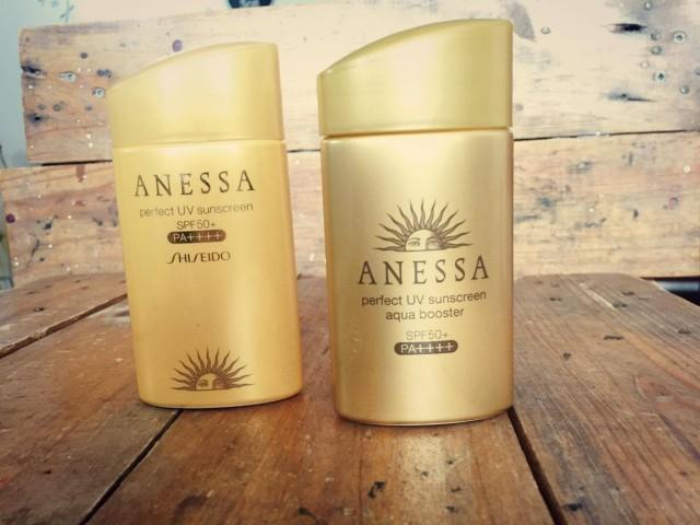 review chống nắng anessa màu vàng mẫu mới