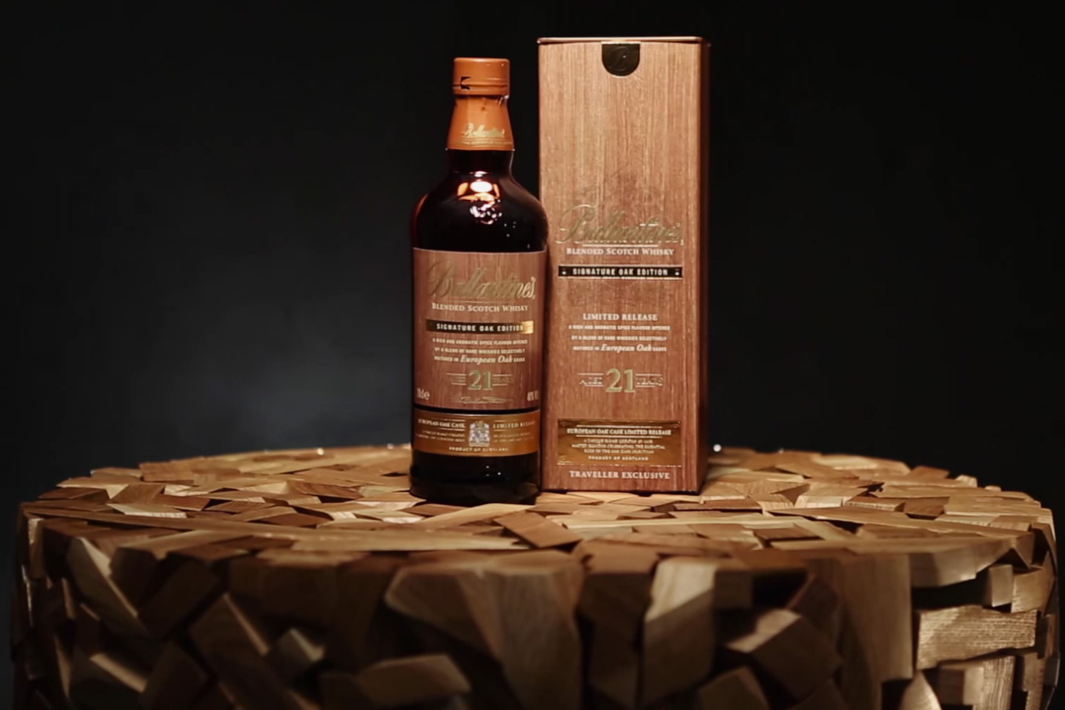 BALLANTINE'S 21 YEAR OLD SIGNATURE OAK EDITION