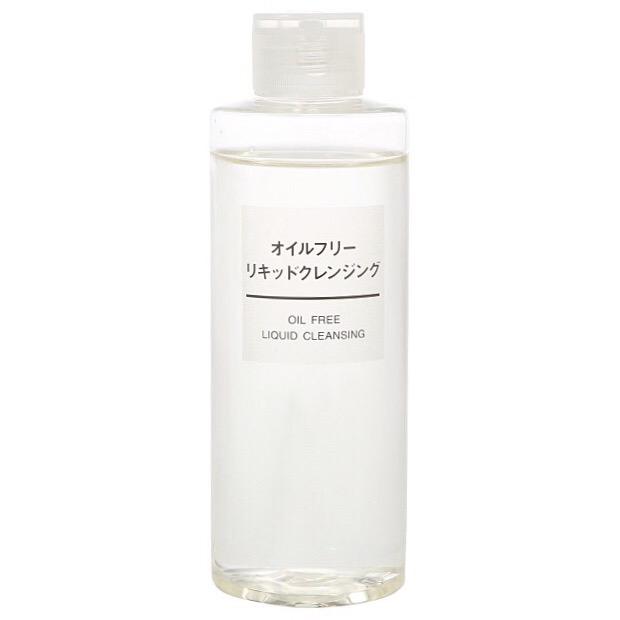 tẩy trang muji oil free liquid cleansing dành cho da nhờn & da mụn