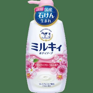 Sữa tắm Milky Body Soap hương hoa hồng chai màu hồng