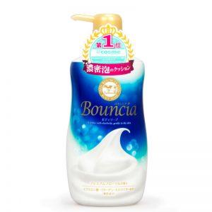Sữa tắm Bouncia con bò chai xanh