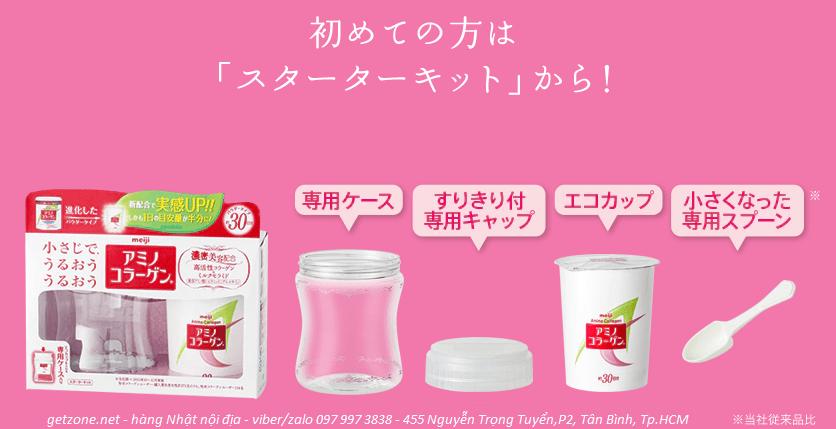 Collagen Meiji Amino mẫu mới dạng hộp giấy nhỏ gọn xinh xắn