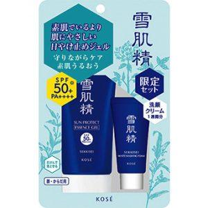 Kem chống nắng Kose Sekkisei Sun Protect Essence Gel N tặng kèm sữa rửa mặt cùng thương hiệu