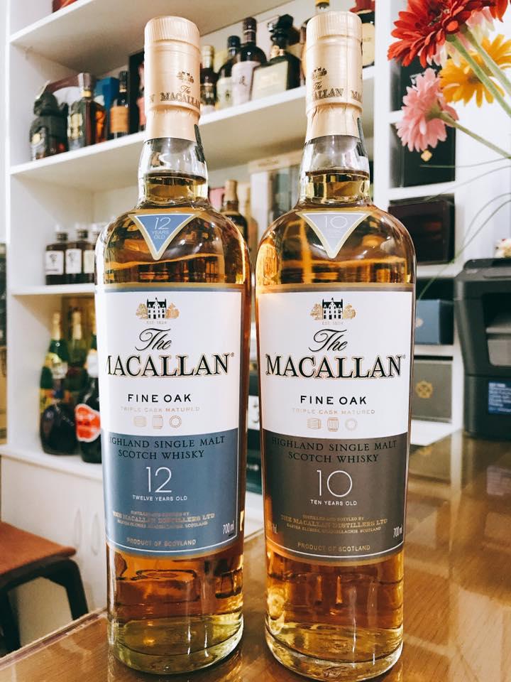 Rượu Macallan Fine Oak 10 hàng Nhật nội địa