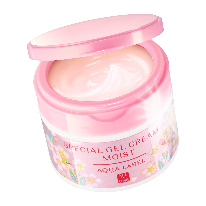 Kem dưỡng Aqualabel Special Gel Cream hộp màu hồng hình hoa anh đào, phiên bản giới hạn
