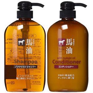 Dầu xả & dầu gội mỡ ngựa Horse Oil không chứa silicone với tinh dầu hoa trà đỏ
