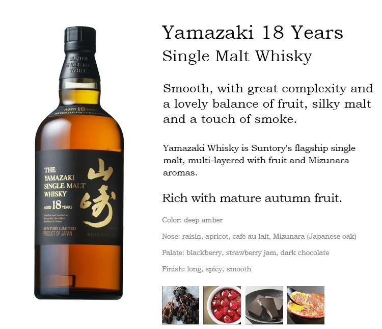 Tasting notes Suntory The Yamazaki 18 Single Malt Whisky