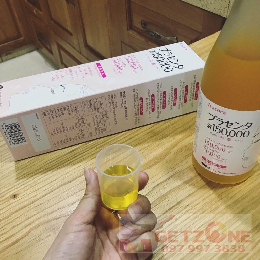 Nước uống nhau thai Fracora Placenta 150000mg cam kết hàng Nhật nội địa giá tốt date mới