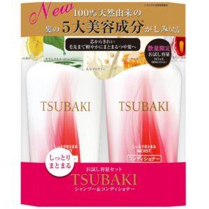 Dầu gội Shiseido Tsubaki Moist màu đỏ dành cho tóc hư tổn & chẻ ngọn