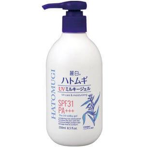 Sữa dưỡng thể Hatomugi UV Milky Gel có chống nắng