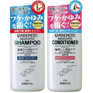 Bộ dầu gội dầu xả trị rụng tóc Kaminomoto đúng hàng xách tay Nhật nội địa