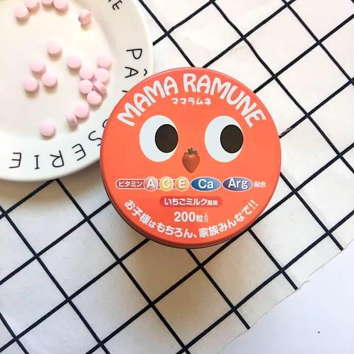Kẹo biếng ăn Mama Ramune 200 viên hàng Nhật nội địa cho bé
