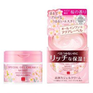 Kem dưỡng Aqualabel Special Gel Cream Moist màu hồng phiên bản giới hạn hoa anh đào